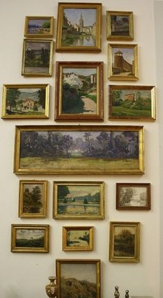 Eclectic Gallery Walls desire-to-inspire-French-art-gallery-wall Picture Wall, Picture Frames, Picture Collages, French Paintings, Vintage Paintings, Art Paintings, Vintage Art, Nature Paintings, Vintage Prints