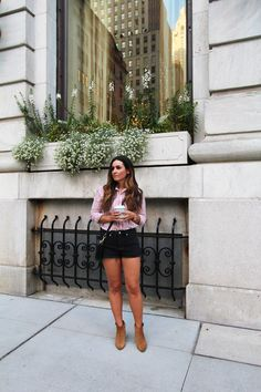 New York Street Style - Shorts and Booties