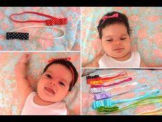 Faça você mesmo: faixa de elástico e presilha para bebê - YouTube