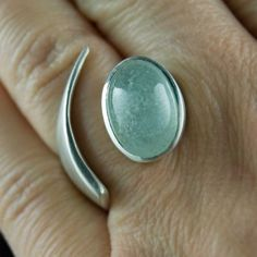 Aquarius Ring Sculptural Sterling Silver Ring with por nodeform