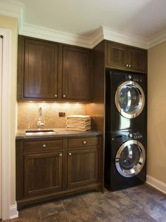 A small laundry room can be a challenge to keep laundry room cabinets functional, yet since this laundry room organization space is constantly in use, we have some inspiring design laundry room ideas. Decor, Room Makeover, Laundry In Bathroom, Room Design, Laundry Mud Room, Interior, Home Decor, Room Remodeling, House Interior