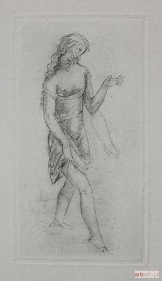 Eugeniusz ZAK ● Idąca dziewczyna (z La porte Lourde. Poémes en prose de René Morand, dessins hors-texte par Eugéne Zak, Paris 1929) ●