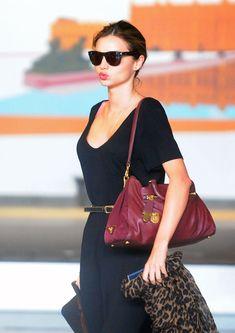 Miranda Kerr Arrives in Paris