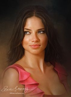 Pretty Face P2- Adriana Lima by Amro0.deviantart.com on @DeviantArt