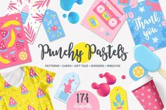 Punchy Pastels Kit by miumiu on @creativemarket