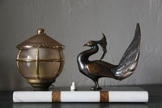 Pair of Antique French Art Deco Table Lamps on a by maintenant