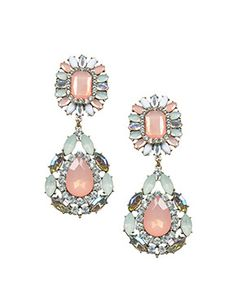 Buy Pastel Crystals Statement Earrings -Faballey