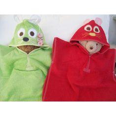 Ponchos De Toalla Para Bebes Y Niños Con Capucha Animada