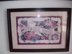powder room, roses
