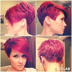 Rockin' my fresh color and new undercut!! ✂️❤️#hair #hairstyle #undercut #shaved #buzzed #garniernutrisse #ultracolor #intenseburgundy #hairdye #boxcolor #permanent #pixie #pixiecut #redpixie #burgundypixie #sexypixie #pixiecutsofinstagram #shorthairdontcare #redheadsdoitbetter #nothingbutpixies @nothingbutpixies #whatveganslooklike