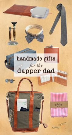 Dad deserves the best this year, so hook him up with some of our favorite handmade goods. From custom cuff links to wood tie bars, these unique gifts will show pops just how special you think he is.