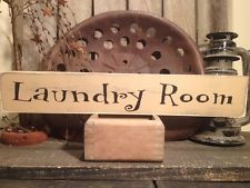 Country Primitive Handmade Wooden Laundry Room Sign Home Decor