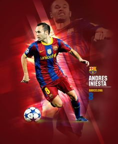 FOOTBALL POSTERS by Maksat Amirzhanuly, via Behance #soccer #poster #iniesta