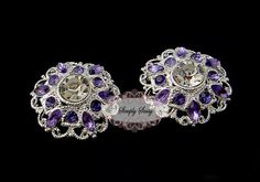 5pcs RD154 Lavender Rhinestone Silver Metal by simplysassysource, $7.50
