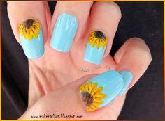Make Nail Art: Sunflower Nail Art Tutorial