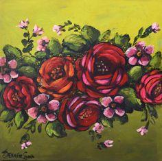 """Fine Fettle 20x20"""" Painting Jennifer Lanne"""