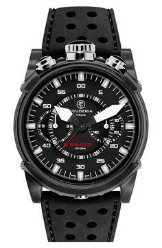 CT Scuderia 'Coda Corta' Silicone Strap Watch, 40mm