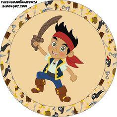 Jake e os Piratas da Terra do Nunca - Kit Completo com molduras para convites, rótulos para guloseimas, lembrancinhas e imagens! - Fazendo a Minha Festa