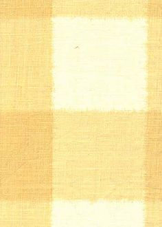 Collection:Toile Pattern: Ikat Check Style No: 2218 Color: Yellow Content: 100% linen Width: 55 in Repeat: 9 in