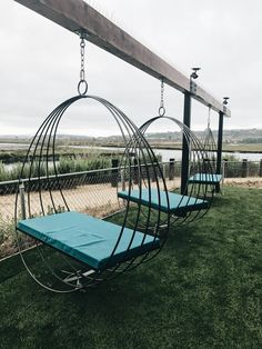 Hang on Lounge Swings at this New San Diego Brewery, Viewpoint Brewing Co. in Del Mar. | Photo Credit: The Venue Report