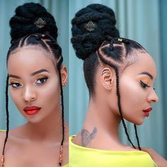 Loving this simple yet tribal look. A cute summer style 😍 👑 Cute Natural Hairstyles, Protective Hairstyles For Natural Hair, Natural Hair Braids, Braided Hairstyles For Black Women, African Braids Hairstyles, Cool Hairstyles, Black Hairstyles, Natural Hair Tutorials, Natural Hair Tips
