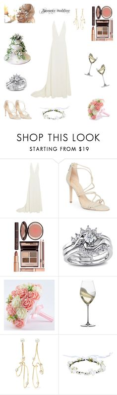 """Untitled #13"" by tatuli-togoxia ❤ liked on Polyvore featuring Michael Lo Sordo, Schutz, Charlotte Tilbury, Miadora, Riedel, Cornelia Webb and Ultimate"