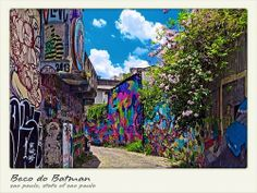 If you enjoy urban street art, this is a must-visit for you. Beco do Batman São Paulo, State of Sao Paulo, Brazil