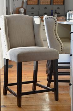 Lessons From A Small House :: Why Our Counter Stools Were All Wrong (NOTE: counter barstools, found here: https://www.ashleyfurniturehomestore.com/p/moriann-pub-height-barstool/d608-530/ )