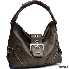 Dasein Buckled Hobo Bag with Zip Pockets - Overstock™ Shopping - Great Deals on Hobo Bags
