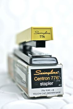 Vintage Swingline Centron 776 Yellow Stapler by daddysbeermoney, $17.00  woah, also comes with the box!