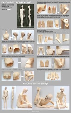 FaCo Doll body modifications - tutorial by scargeear on deviantART