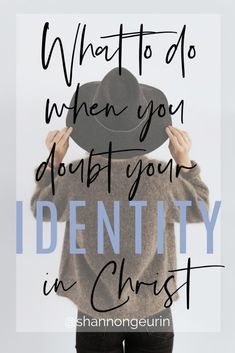 Stop living in doubt and start living out your identity in Christ. Find resources, quotes, bible study and encouragement. Christian Living, Christian Faith, Christian Women, Christian Quotes, Take Every Thought Captive, Dear Sister, Identity In Christ, Love Your Family, Math Books