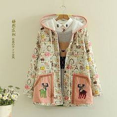 Buy Storyland Fleece-Lined Printed Embroidered Hooded Coat at YesStyle.com! Quality products at remarkable prices. FREE WORLDWIDE SHIPPING on orders over US$�35.