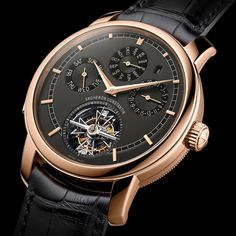 Vacheron Constantin Traditionnelle Calibre 2755 - new version with 44 mm pink gold case, slate grey dial. Tourbillon, perpetual calendar and minute repeater #vacheronconstantin #grandecomplication #calibre2755 #tourbillon #perpetualcalendar #minuterepeate