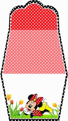 Minnie in Red: Free Printable Purse Invitations.