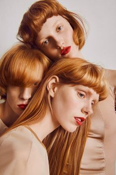 coiffures コ Ina and Lulu wear dresses by Anne Sofie Madsen/ redhead haircuts