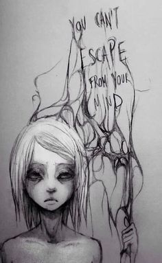 lost death hair girl depressed depression sad suicide lonely quotes anxiety alone Scared die dead anorexia cry ana mia dying done sadness empty darkness loneliness Afraid gone suicidall bolumia the-girl-that-messed-her-life The Dark Side, Art Tumblr, Arte Sketchbook, Dark Art, Illustration, Cool Art, It Hurts, Street Art, Sketches