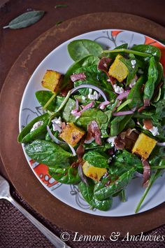 Wild Arugula Salad with Garlic Croutons, Shaved Parmesan, and Lemon ...
