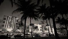 Miami Beach Art Deco Buildings, Black & White Photography, South Beach Miami Florida, Black and White Night Photo - Limited Ed Photo Print South Beach Miami, Miami Florida, White Photography, Fine Art Photography, Art Nouveau, Thing 1, Art Deco Buildings, Historical Art, Beach Art