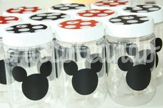 Mickey Mouse Party -  Tumbler 10 NEW PLASTIC JAR  Mickey Mouse Party  Jar Mickey Mouse