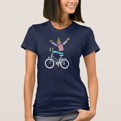 White bike face bicycle smiley T-Shirt - white gifts elegant diy gift ideas Aztec T Shirts, Tee Shirts, Funny Design, Design Humor, Girls Night Out, Wardrobe Staples, Shirt Style, Shirt Designs, Drama