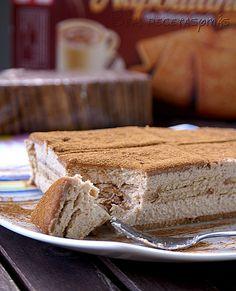 Tarta de queso y galletas de canela