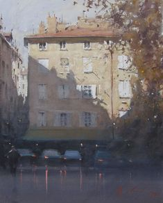 Watercolor Painting by Joseph Zbukvic Watercolor City, Watercolor Landscape Paintings, Watercolor Artists, Artist Painting, Watercolor Illustration, Painting Lessons, Abstract Paintings, Oil Paintings, Watercolor Architecture