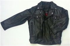 Premium kids leather motorcycle jacket