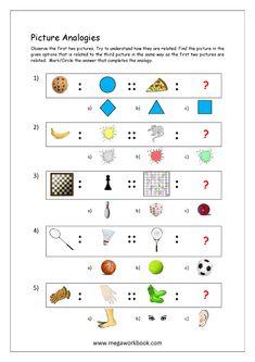 Free Printable Picture Analogy Worksheets - Logical Reasoning - MegaWorkbook