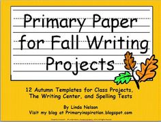 FREE writing paper for your fall projects and writing center! paper Free Writing Paper for Fall Kindergarten Writing, Teaching Writing, Writing Activities, Teaching Ideas, Writing Ideas, Literacy, Kindergarten Rocks, Preschool Ideas, Spelling Test Template