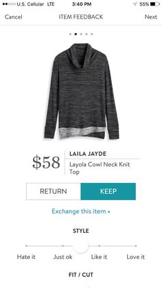 Laila Jayde Layola Cowl Neck Knit Top Stitch Fix