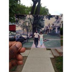 Homem recria foto antiga como homenagem ao seu pai