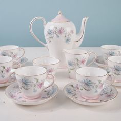 Royal Grafton Summer's Day Tea Set  6 Settings by CastandCrown, $95.00