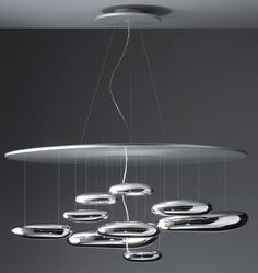 Our ceiling light fixture at home - Mercury Lamp from Artemide....